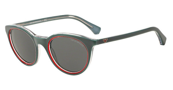 Emporio Armani EA4061 547987 GREYTOP GREEN ON TR RED