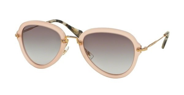 Miu Miu MU 03QS TV13E2 GREY GRADIENTSAND OPAL ANTIQUE PINK