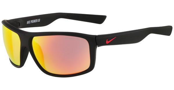 Nike NIKE PREMIER 8.0 R EV0794 065 MATTE BLACK/GYM RED WITH GREY W/ML RED FLASH LENS