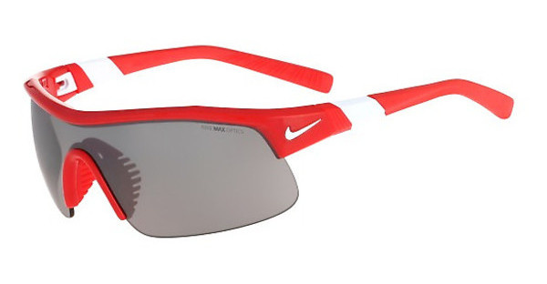 Nike SHOW X1 EV0617 600 UNIVERSITY RED/WHITE WITH GREY W/SILVER FLASH /CLEAR TINT LENS