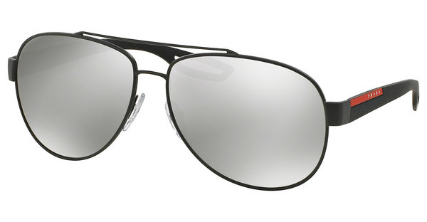 Prada Sport PS 55QS TIG2B0 LIGHT GREY MIRROR SILVERGREY RUBBER